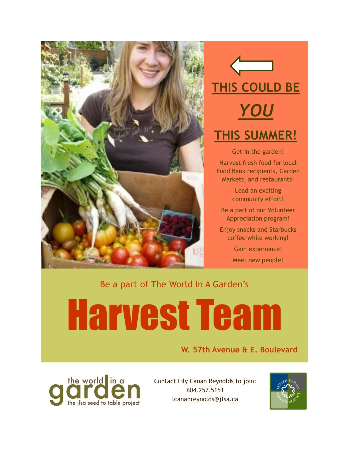 Harvest Team poster
