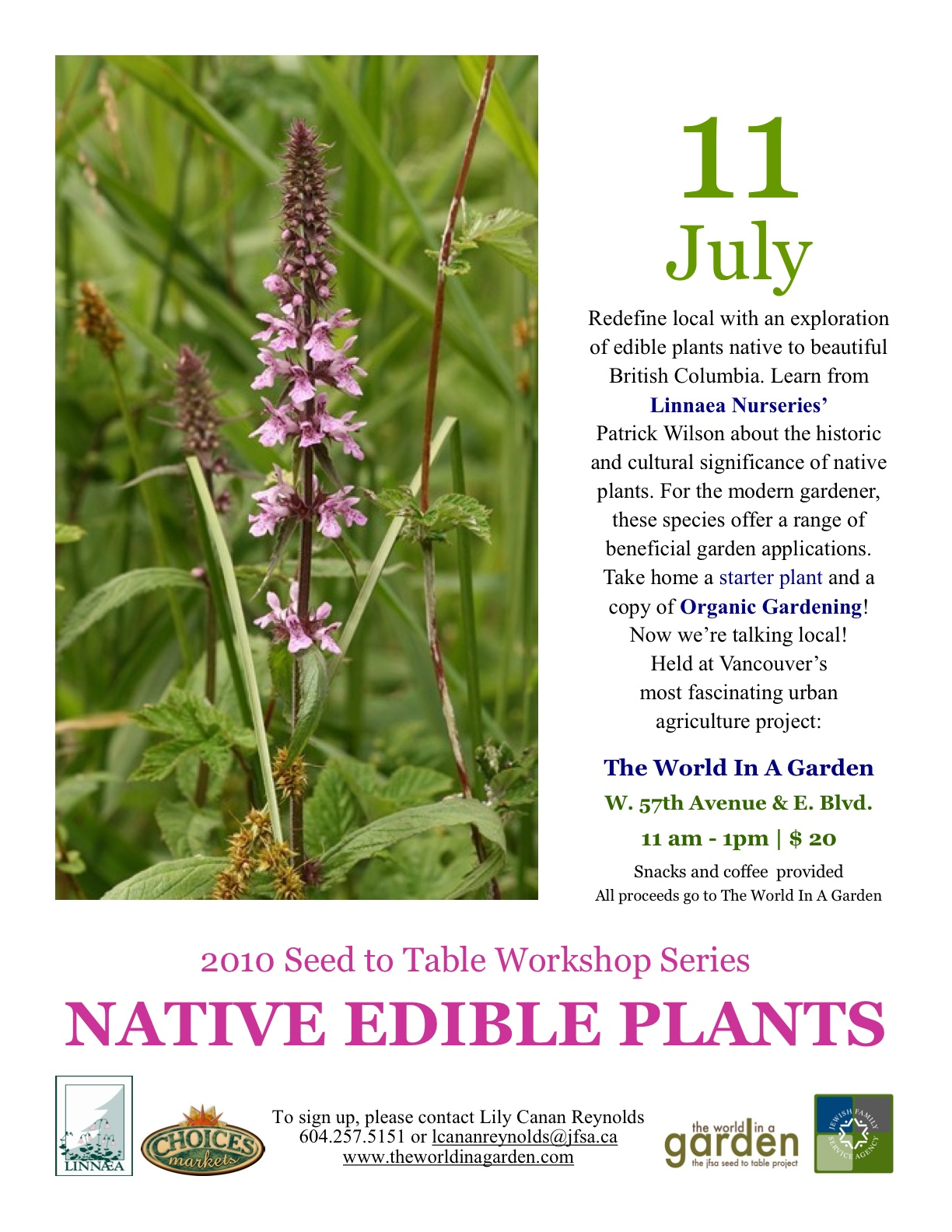 Native Edible Plants Workshop July 11th